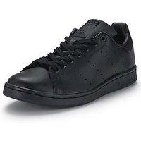 adidas Originals Stan Smith Mens Trainers, Black, Size 9, Men