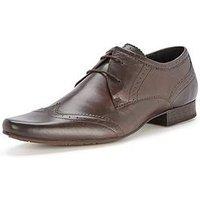Hudson London Ellington Mens Lace Up Shoes, Brown, Size 9, Men