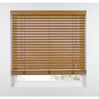 Product photograph showing Made To Measure 50mm Wooden Venetian Blinds - Tawny