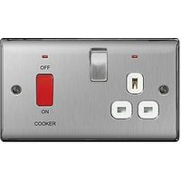 British General Brushed Steel 13A Fused Connection Unit Switched