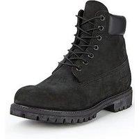 Timberland Mens 6 inch Premium Boots, Black, Size 6, Men