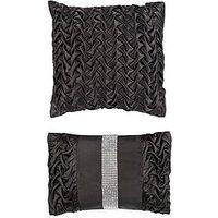 Mia Set Of 2 Black Cushions