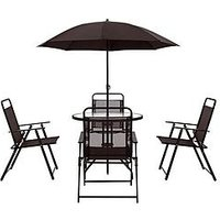 Product photograph showing Santa Rosa 6 Piece Outdoor Dining Set