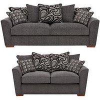 Newport 2-Seater + 3-Seater Fabric Sofa Set (Buy And Save!)