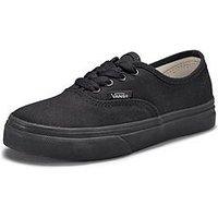 Vans Vans Authentic (Core) Children, Black/Black, Size 12