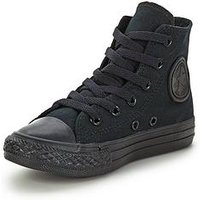 Converse Chuck Taylor All Star Hi Core Childrens Trainer, Black/Black, Size 13