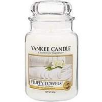 Product photograph showing Yankee Candle Large Jar - Fluffy Towels