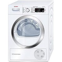 Bosch Serie 8 Wtw87560Gb 9Kg Load Condenser Sensor Dryer With Heat Pump Technology - White