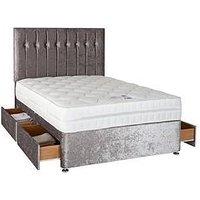 Sweet Dreams Sheba Cushed Velvet Divan Bed (Includes Headboard!) - Non Storage
