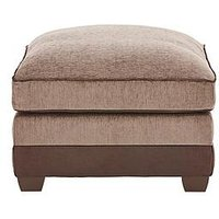 Product photograph showing Arran Fabric And Faux Leather Footstool