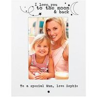 Personalised 'To The Moon And Back' Photo Frame