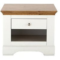 Product photograph showing Ideal Home Wiltshire 1 Drawer Lamp Table