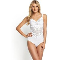 Miss Mary of Sweden Body Corselette, White, Size 44B, Women