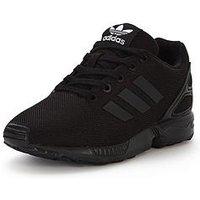 adidas Originals ZX Flux Childrens Trainer, Black, Size 3