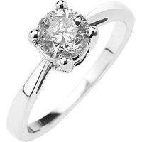 Love DIAMOND 9-Carat Gold, 1-Carat Diamond Solitaire Ring, Yellow Gold, Size Q, Women