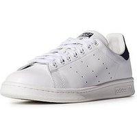 adidas Originals Stan Smith Trainers - White/Navy, White/Navy, Size 10, Men