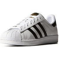 adidas Originals Superstar Trainers - White/Black, White/Black, Size 5, Women