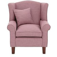 Denton Linen Look Fabric Wing Chair