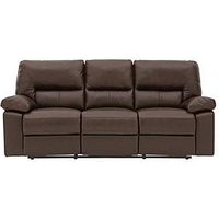 Newberg Premium Leather 3 Seater Manual Recliner Sofa