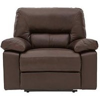 Newberg Premium Leather Manual Recliner Armchair