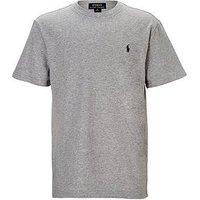 Ralph Lauren Boys Classic Pony Logo T-Shirt, Grey Marl, Size Age: 6