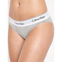 Calvin Klein Modern Cotton Bikini Briefs, Grey, Size L, Women