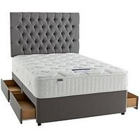 Silentnight Mirapocket Jasmine 2000 Pocket Pillowtop Latex Divan Bed With Optional Storage
