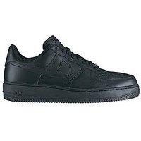 Nike Air Force 1 '07 Trainers, Black/Black, Size 9, Men