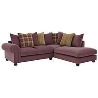 Ideal Home Orkney Right Hand Fabric Scatter Back Corner Chaise Sofa