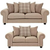 Ideal Home Orkney 3 Seater + 2 Seater Fabric Sofa Set (Buy And Save!)