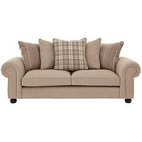 Orkney 3 Seater Fabric Scatter Back Sofa