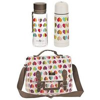 Beau & Elliot Confetti Lunch Satchel, Water Bottle And Flask Set