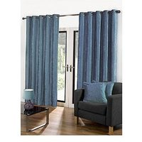 Luxe Collection Luxury Soft Velour Lined Eyelet Curtains