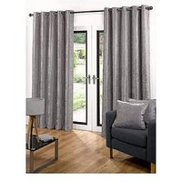 Luxe Collection Luxury Soft Velour Eyelet Curtains