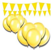 Giant Bunting and Balloon Decorating Kits, Hot Pink, Women