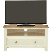 Luxe Collection - London Painted Ready Assembled Corner Tv Unit - Fits Up To 38 Inch Tv