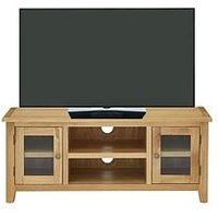 Luxe Collection - London Oak Ready Assembled Tv Unit - Fits Up To 55 Inch Tv