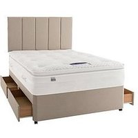 Silentnight Mirapocket Jasmine 2000 Geltex Divan With Optional Storage And Half-Price Headboard Offer (Buy And Save!)