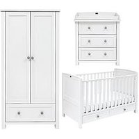 Silver Cross Nostalgia Cot Bed, Dresser and Wardrobe, One Colour