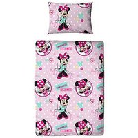 Minnie Mouse Handmade Toddler Duvet and Bedding Bundle Set, One Colour