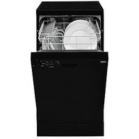 Beko Dfs05010B 10-Place Slimline Dishwasher - Black