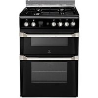 Indesit Id60G2K 60Cm Gas Cooker Double Oven