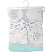 Silvercloud Counting Sheep Pram Blanket, One Colour