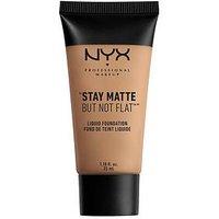 NYX PROFESSIONAL MAKEUP Stay Matte But Not Flat Liquid Foundation, Nude, Women