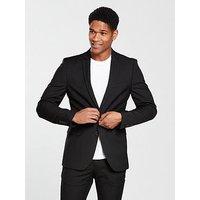 V by Very Skinny Suit Jacket - Black, Black, Size Chest 42, Length Regular, Men