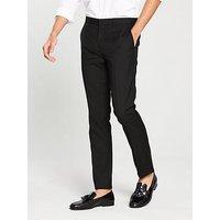 V by Very Skinny Trouser - Black, Black, Size 36, Length Short, Men