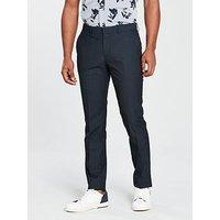 V by Very Skinny Trouser - Navy, Navy, Size 36, Length Short, Men