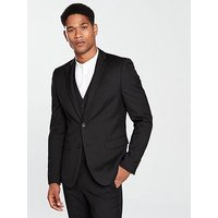 V by Very Slim Fit Mens Jacket, Black, Size Chest 40, Length Regular, Men