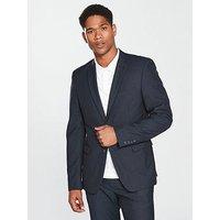 V by Very Slim Suit Jacket - Navy, Navy, Size Chest 34, Length Regular, Men