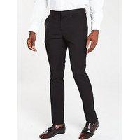 V by Very Regular Trouser - Black, Black, Size 34, Length Short, Men
